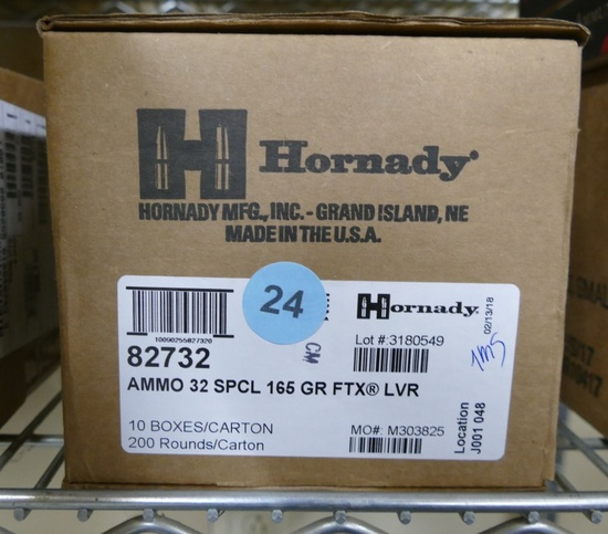 200 rds Hornady 32 Spec 165 GR FTX Ammo