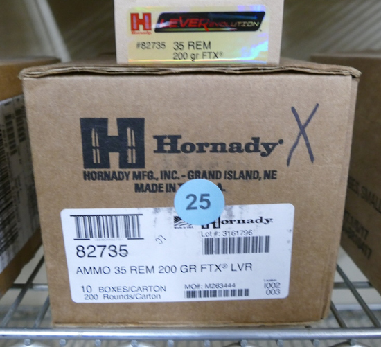 300 rds Hornady 35 REM 200 GR FTX Ammo