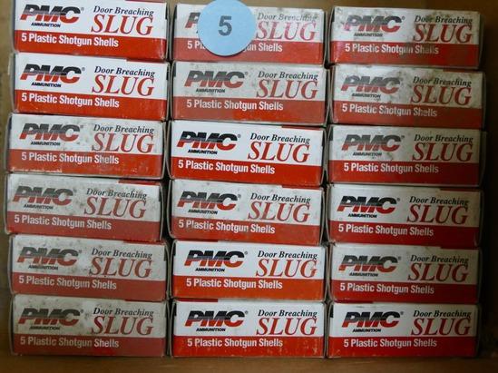 90 rds PMC 12 ga Door Breaching Law Enforce Slugs