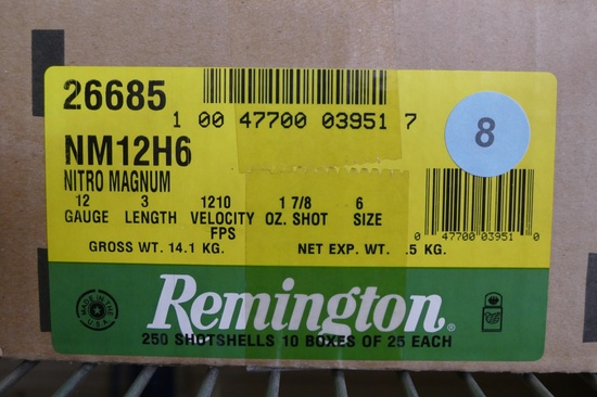 200 rds of Remington 12 ga Nitro Mag 6 Shot Ammo