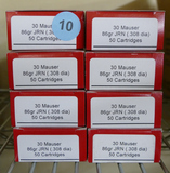 200 rds of 30 Mauser County Line Classic Ammo