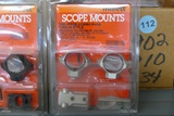 Large lot of Assorted Millett Scope Mounts