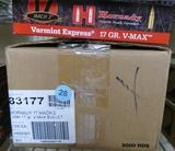 6,500 rds 17 MACH II Hornady V Max Ammo