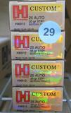 100 rds Hornady 25 Auto Ammo
