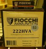 100 rds Fiocchi 222 Ammo