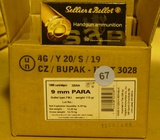 300 rds Sellier Bellot 9mm Luger Ammo