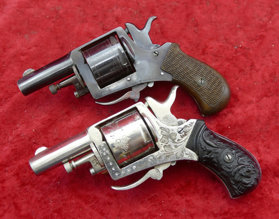 Pair of Antique Folding Trigger 32 cal Revolvers