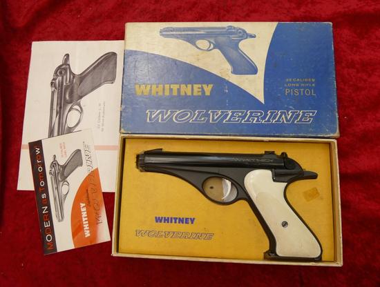 Rare Whitney Wolverine w/White Grips +Original Box