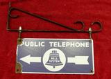 Porcelain BELL SYSTEM Phone Hanging Sing