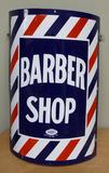 Rounded Porcelain Barber Shop Sign