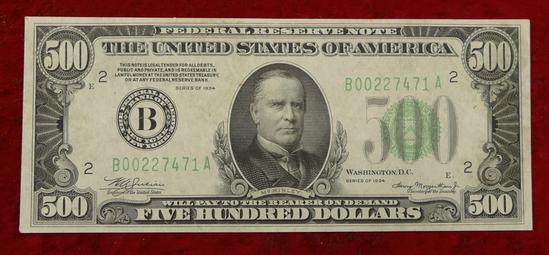 1934 Series US $500 Bill