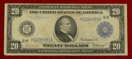 US Series 1914 $20 Blanket Bill