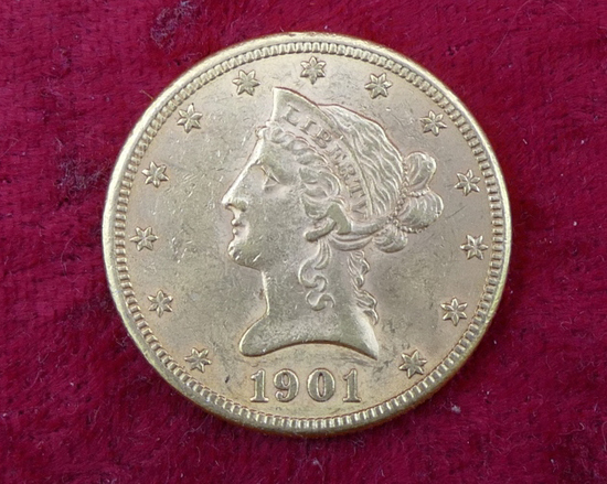 1901 US $10 Gold Coin