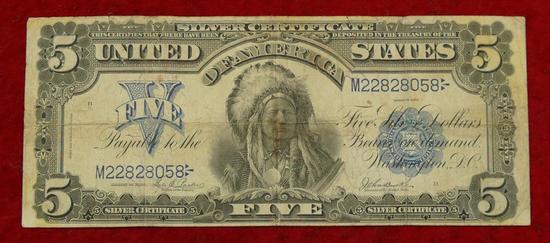 US 1899 Series $5 Silver Cert. Blanket Bill