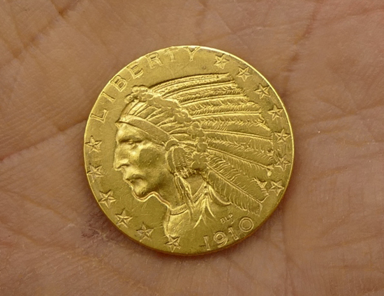 1910 US $5 Gold Coin