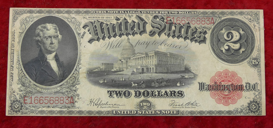 US 1917 $2 Blanket Bill