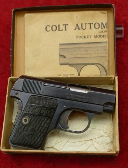 Colt 1908 25 ACP Pistol w/Box