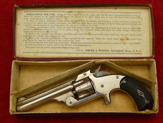 Antique Smith & Wesson Model 1 1/2 Revolver w/Box