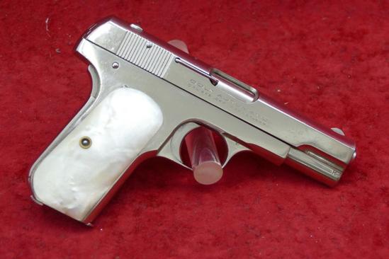 Nickel Finished Colt 1908 380 cal Pocket Pistol