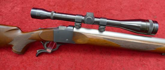Ruger #1 w/Custom 17cal Centerfire Bbl.