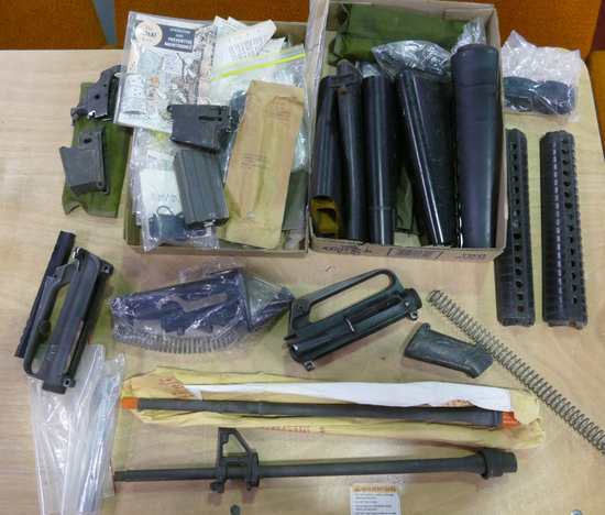 Lot of Surplus M16 Parts