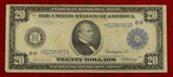 US Series 1914 $20 Blanket Bill