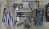 Lot of Torch Cut US M4 Grease Guns