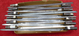 Lot of 12 US Marked Trapdoor Bayonets