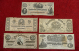 Lot of Civil War Confederate Bills