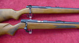 Pair of Late Production Winchester Bolt Action 22s