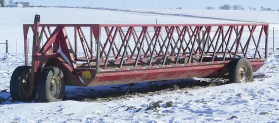 24 ft Notch Feeder wagon w/silage insert