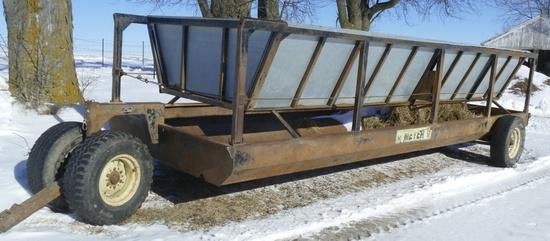 20 ft Meyer Feeder wagon w/silage inserts