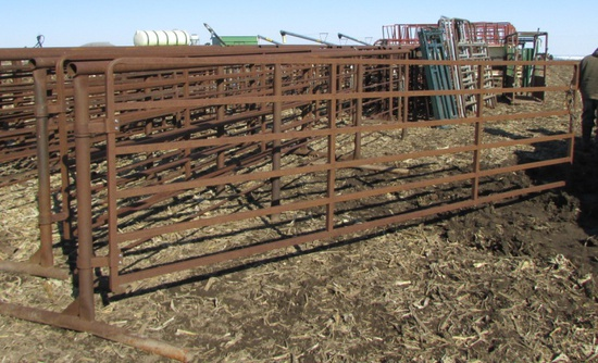 24' HD Cattle gates w/ attached 16 swing gates