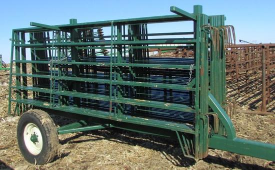Green Cattle Gates & Trailer