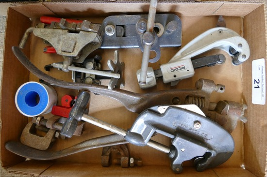 Lot of Pipe Cutters & Threaders