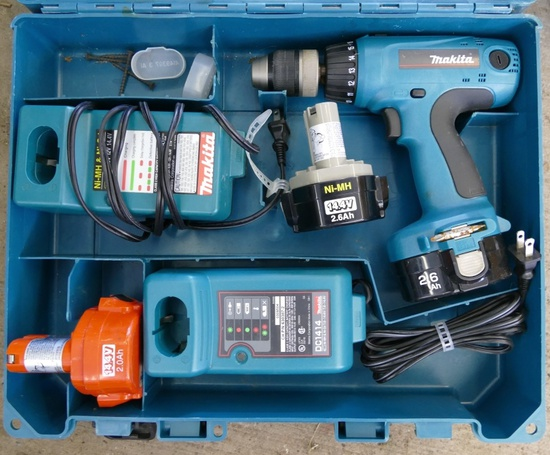 Makita Cordless Drill with Chargers & Batteries