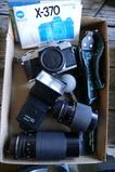 X-370 Minolta 35mm Camera w/lenses