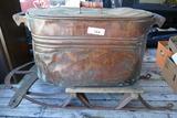 Antique Runner Sled & Copper Boiler