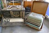 Zenith World Band Radio & Smith Carona Typewriter