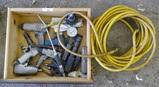 Lot of Air Tools, Regulator, & Air Hose