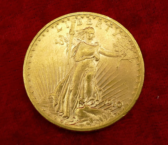 1910-D US $20 Gold Coin