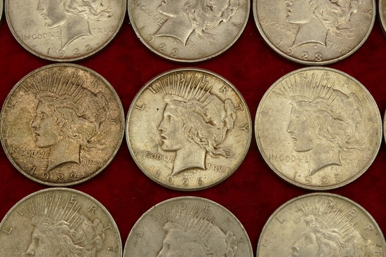 Lot of 20 US Peace Silver Dollars (A)
