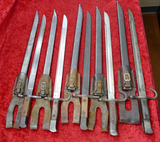Lot 5 Japanese Bayonets w/Scabbards & Frogs (O)