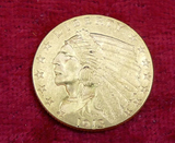 1913 US $2 1/2 Gold Coin