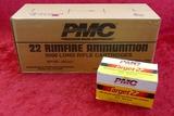 Case/5,000 count of PMC 22 Rimfire Ammo