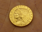 1929 US $2 1/2 Gold Coin