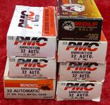 350 rds of mixed 32 ACP ammo