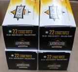 4 Bricks/2,000 rds of Armscor 22LR Ammo