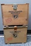 2 Wooden Cases Federal DU Ltd Ed Shot Shells