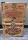 2 Wooden Cases Federal DU Ltd Ed Shot Shells 84/85